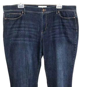 J. Jill Authentic Fit Slim Bootcut Jeans Sz 18